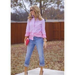 J. Crew Pink Colorblock Boy Fit Button Up Shirt 00